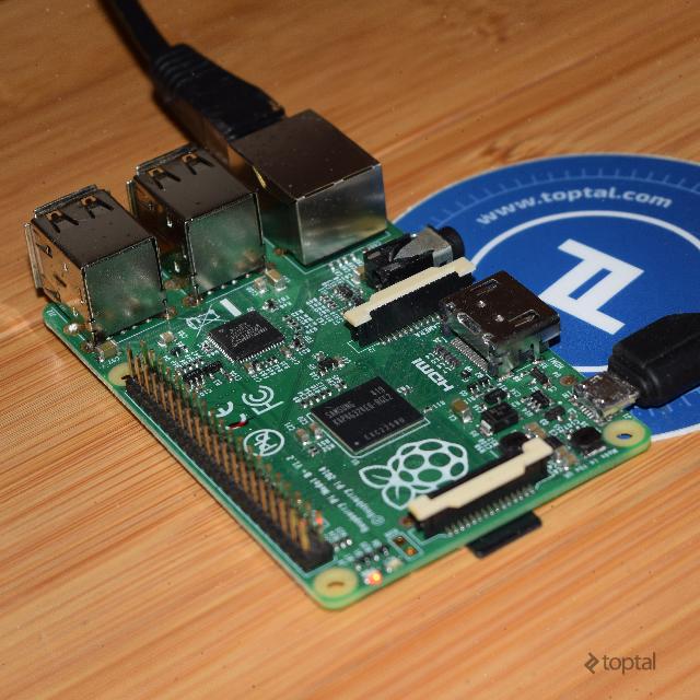 Raspberry Pi development server in action.