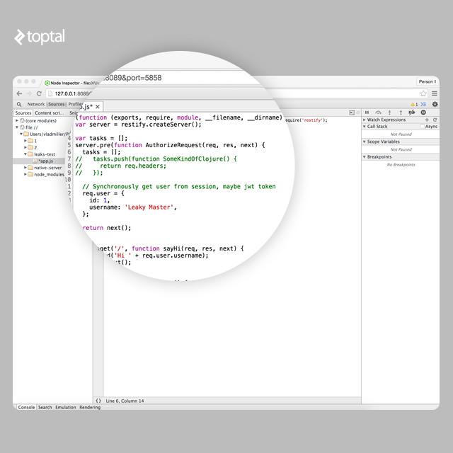 Debugging Memory Leaks in Node js Applications