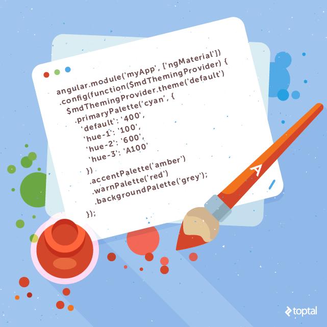 Some Angular Material code.