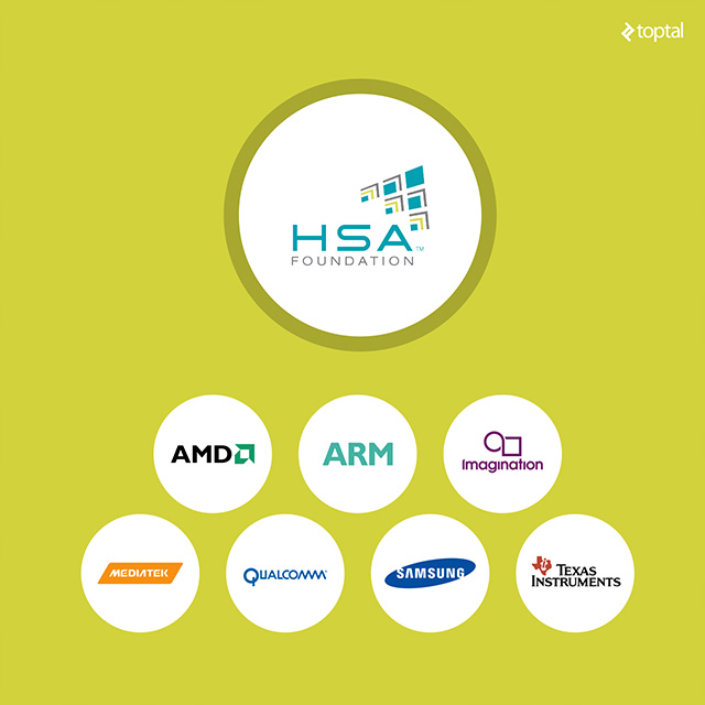 A lot of big names support HSA. However, industry heavyweights Intel and Nvidia are not on the list.