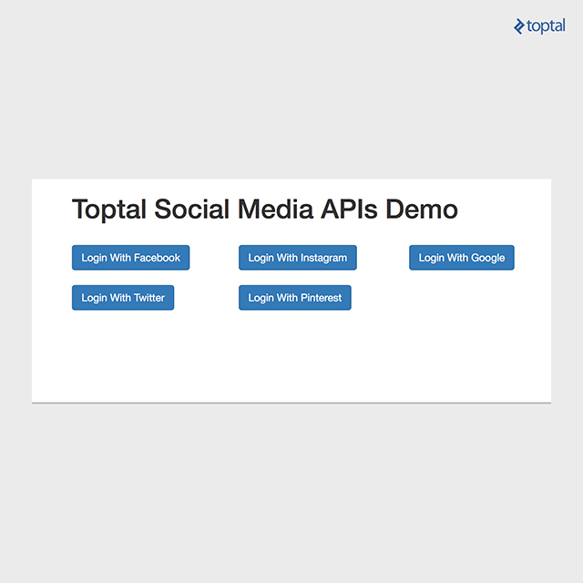 Social network API illustration