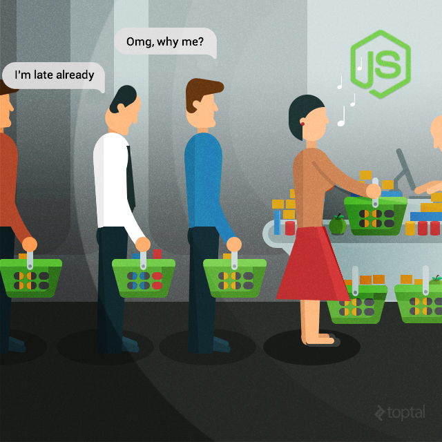 node.js single threaded environment