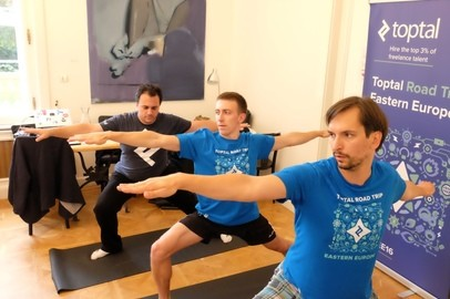 Toptal Road Trip Eastern Europe: Toptal Yoga in Prague - Sep 21, 2016