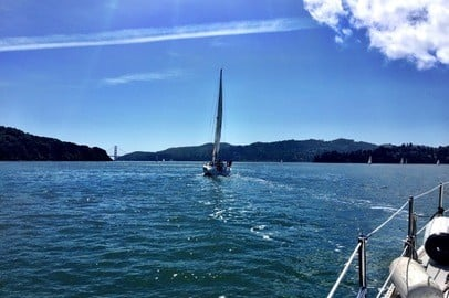 Sailing on SF Bay - Apr 25, 2015