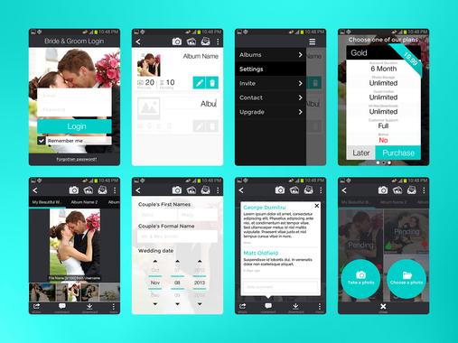 WeddingPhotoSwap   Android App   UX   UI   Interactive Prototype