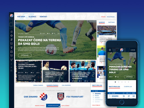 "Responsive Website Redesign for ""FC Dinamo"""