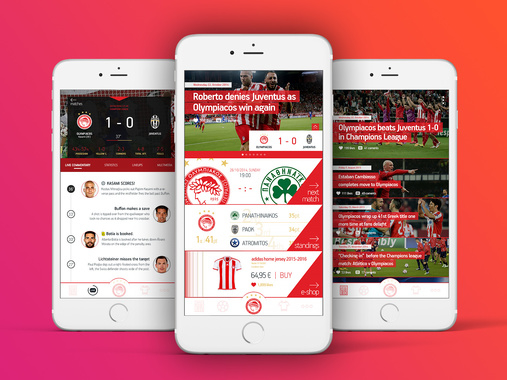 """iPhone App for """"FC Olympiacos"""""""