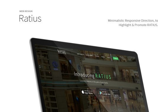 Ratius - Responsive Web for Desktop and Mobile