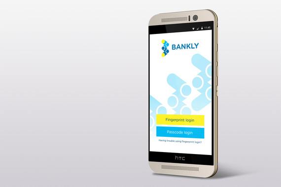 Bankly app visual and interface design