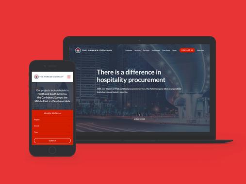 The Parker Company - Website Design