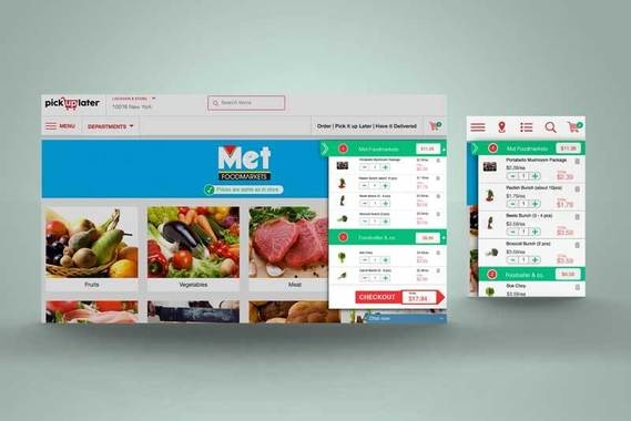 Responsive UI/UX Design for a Grocery Store