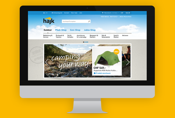 Hajk (eCommerce) | Redesign and Rebranding