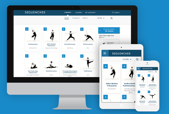 Sequenched (Yoga Class Builder) | Concept and Visual Design
