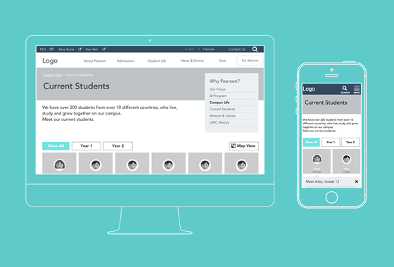 Pearson College | Responsive Design and Content Strategy