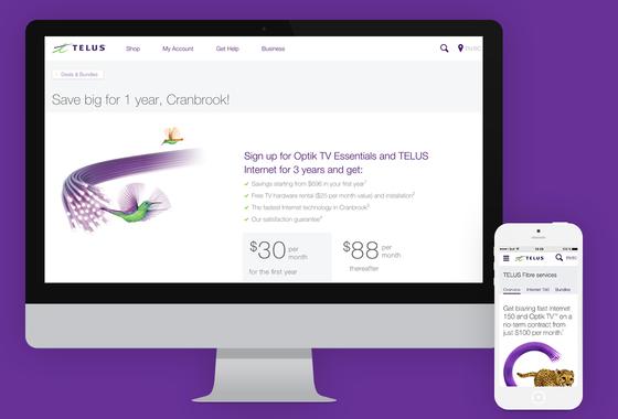 TELUS | Responsive Design Campaign