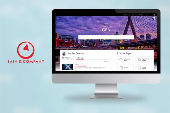 Management Consulting Web Application UX/UI Design
