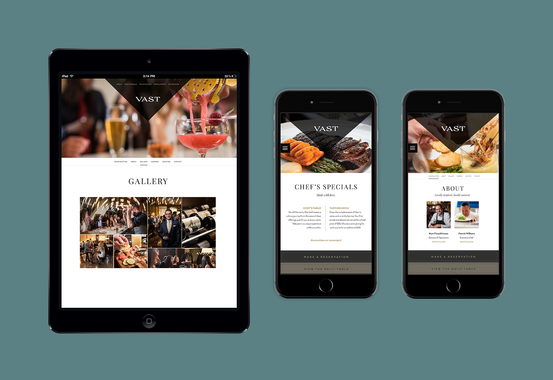 Vast Responsive Web Design and Print Collateral