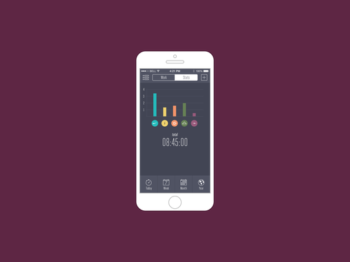 Time Tracker | iOS Application Design