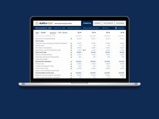 Financial Reporting Web App