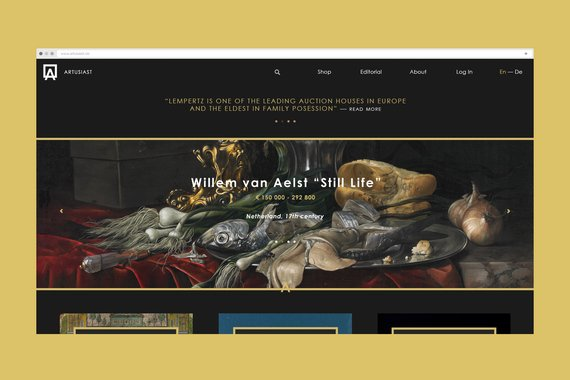 Artusiast | Auction House Website
