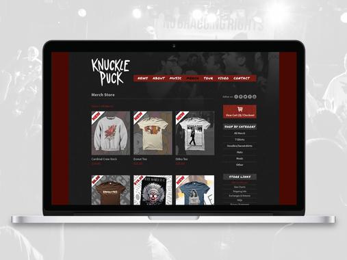 Knuckle Puck Website