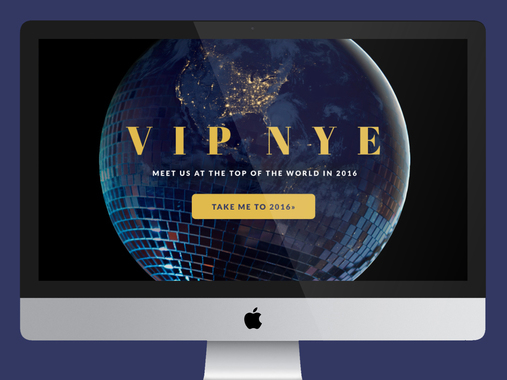 V.I.P. New Year's Eve Event Website