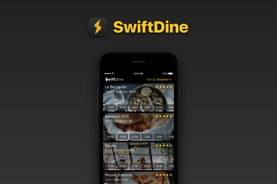 SwiftDine (via Toptal)