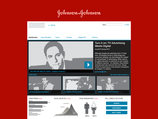 Johnson & Johnson | Internal Knowledge Sharing Site