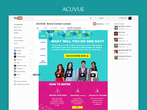 ACUVUE® One Day Campaign