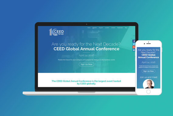 CEED Global Conference | Website Design and Development