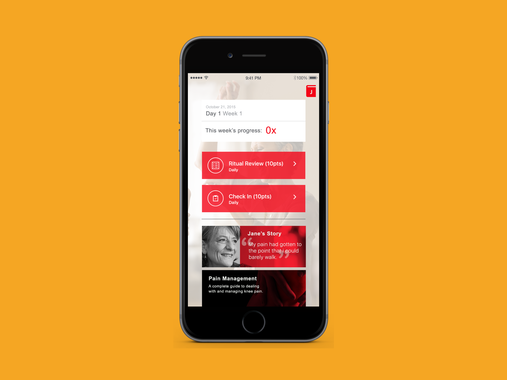 UX Designer for a Motivational and Recovery Mobile Application