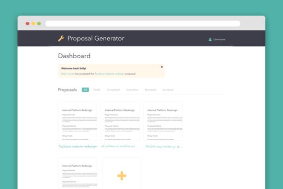 UI Design for a Proposal Management Application