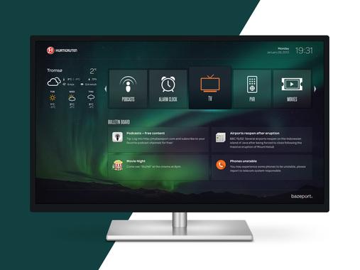 Bazeport Infotainment System UI Design