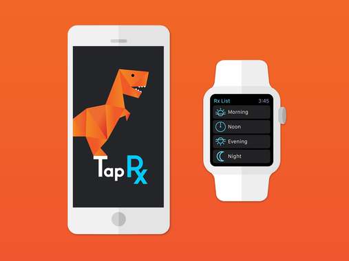 Art Direction TapRx iOS and Apple Watch App