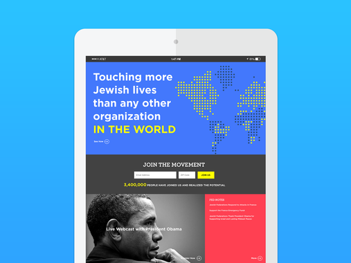 JewishFederations.org Website Redesign