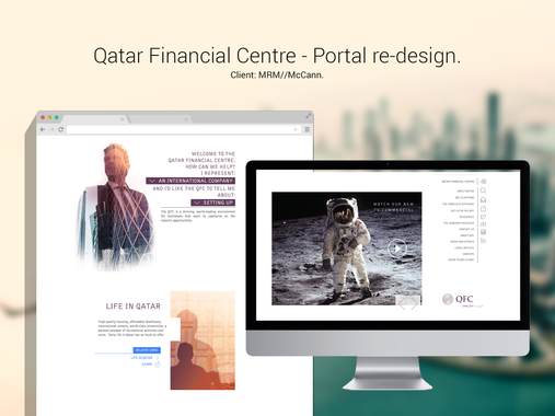 Qatar Financial Centre | Portal Redesign