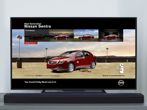 Animation Design for Nissan Advertorial Unit