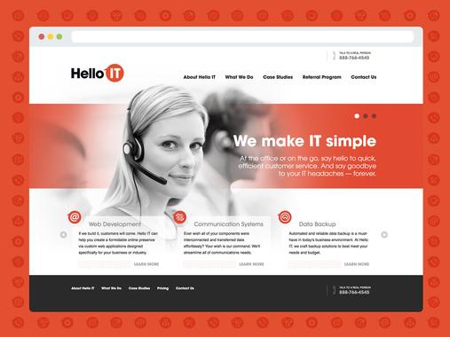 Hello IT - Naming, Identity Design, Icon Suite, Style Guide, Web Design