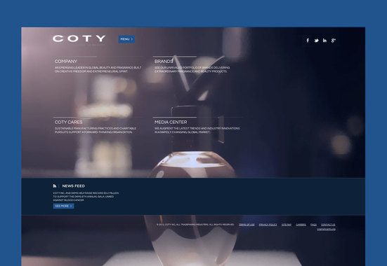 Coty – Global Website Redesign