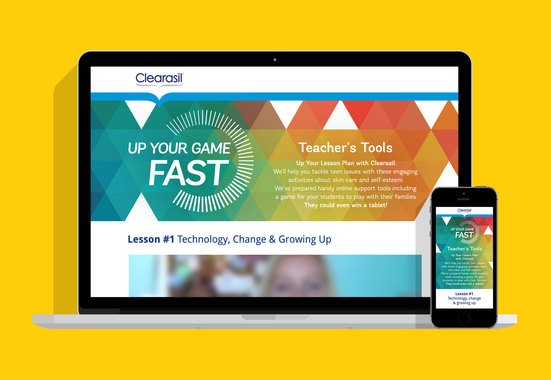 Clearasil – Educational Website and Game