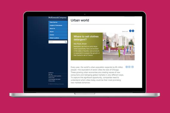 McKinsey Urban World Web Design