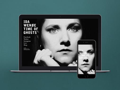 Responsive Website and Album Visuals | Ida Wenøe