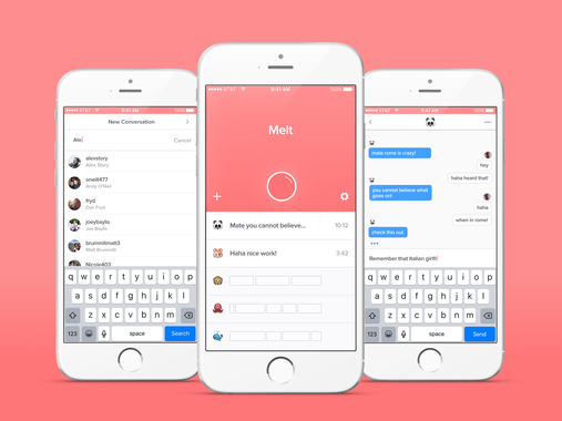 Melt – Anonymous Messaging App (iOS)
