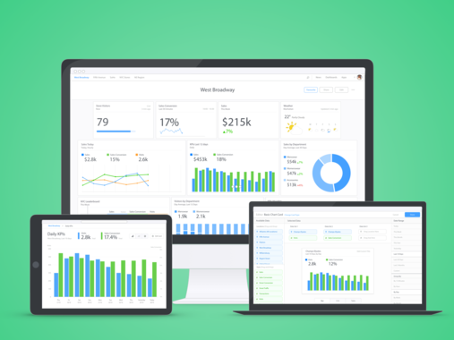 Dashboards – Desktop BI Platform for Retail (Web)