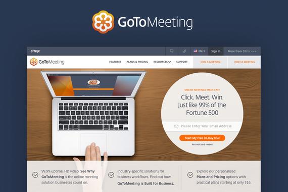 Citrix GoToMeeting Responsive Website