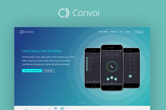 Convoi App Responsive Website