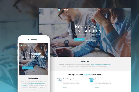 Redicom | Responsive Web Design | Branding | Logo Design