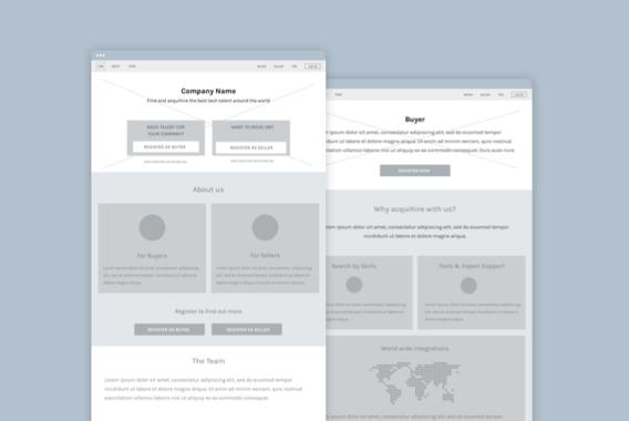 Acqui-hire Web Platform