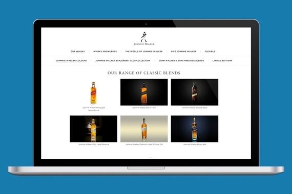 Johnnie Walker's Global Website