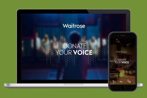 Waitrose Donate your Voice